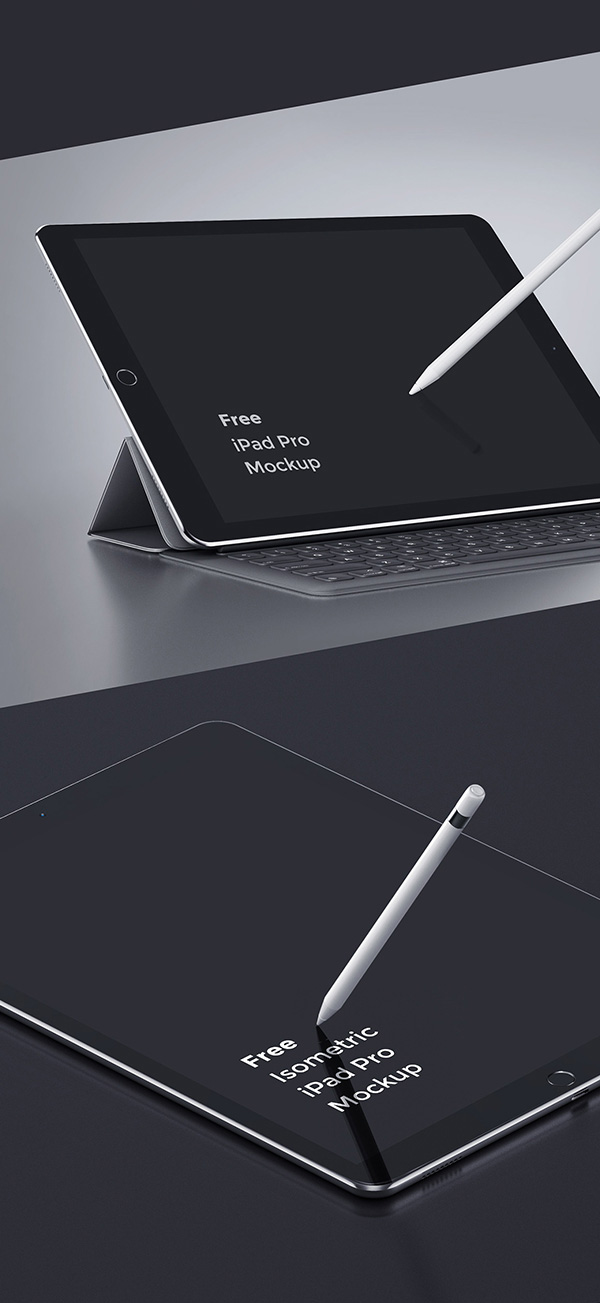 Smartphone & Tablet Mockup PSD Terbaru Gratis - iPad Pro PSD Mockup