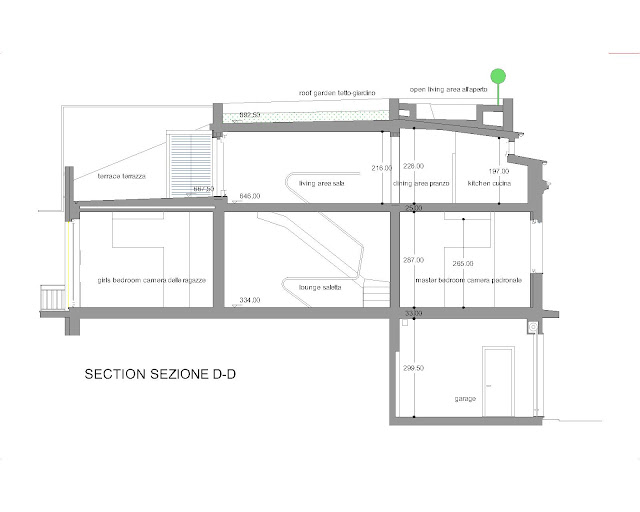sezione section D-D