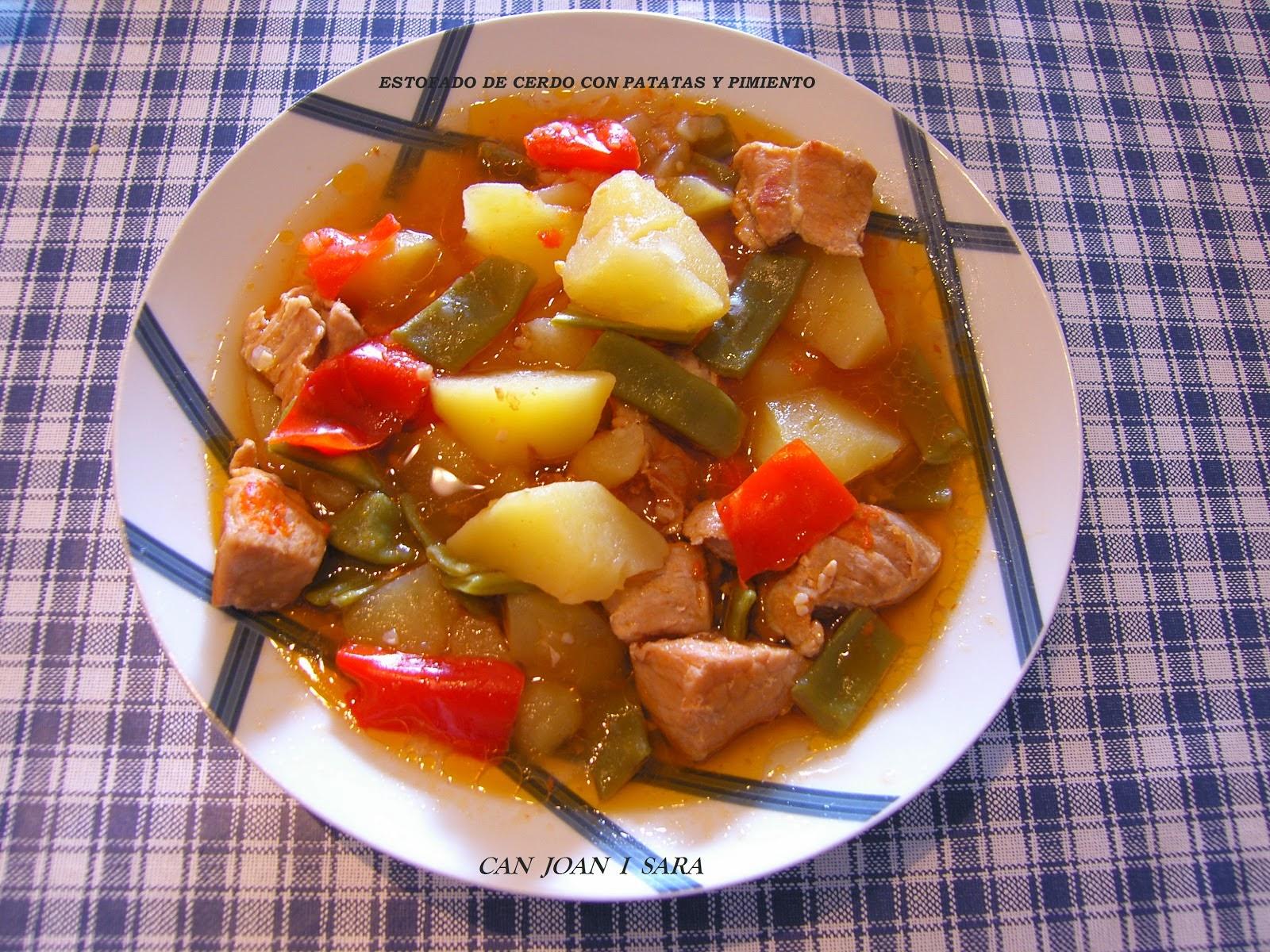 Can joan i sara estofado de cerdo con patatas y pimiento for Corzo con patatas