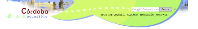 imagen del encabezado de la web Córdoba accesible