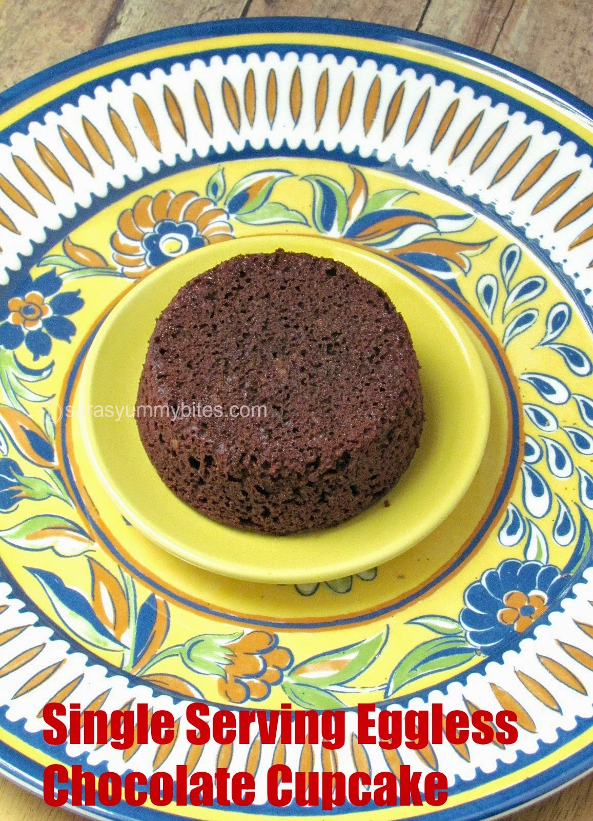 Single Serving Eggless Chocolate Cupcake