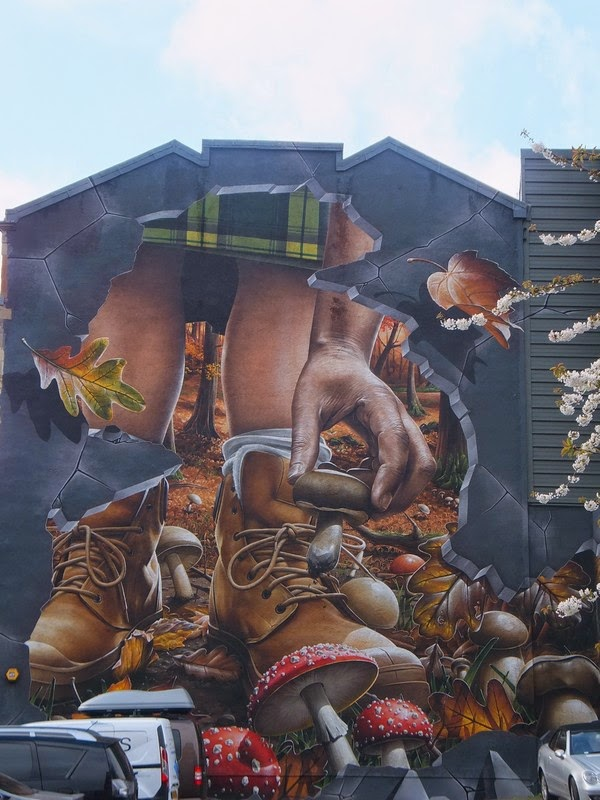 Glasgow Scotland écosse East End merchant city street art