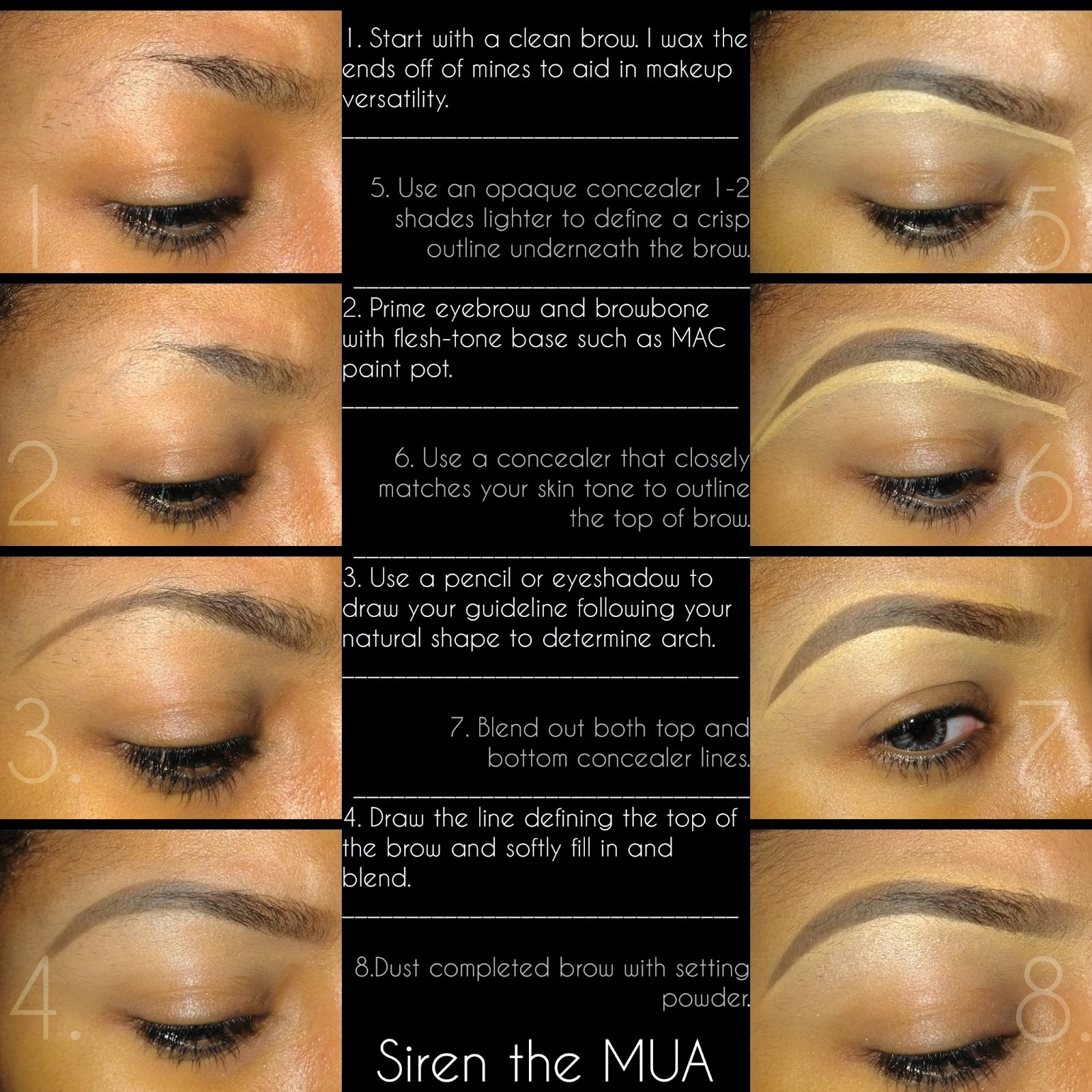 Step by step eyebrow instruction tips webs step by step eyebrow instruction baditri Images