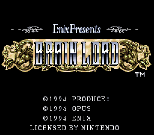 Brain Lord title screen