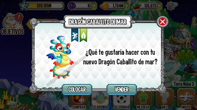 imagen del dragon caballito de mar en dragon city app