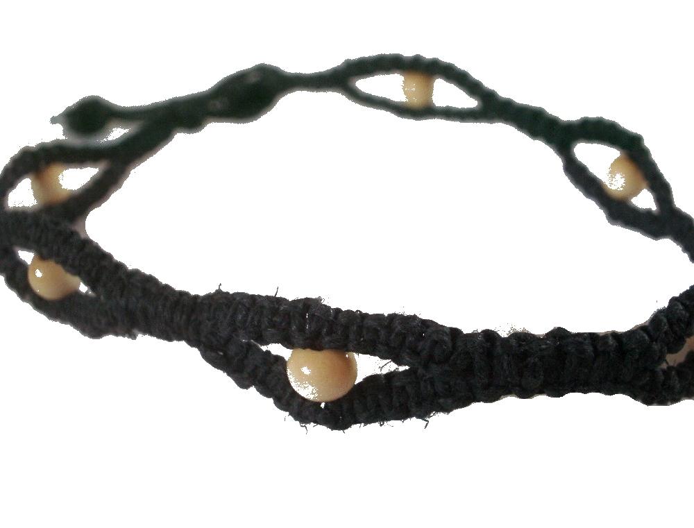hemp necklace patterns instructions