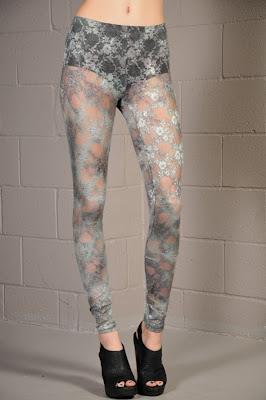 grey lace leggings viktorviktoriashop.com