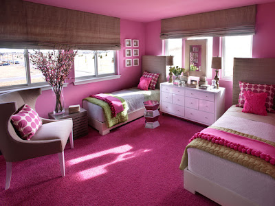 Girls Teen Hot Pink Room