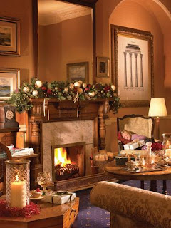 3D Christmas fireplace Wallpapers