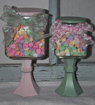 DIY Candy Jar with Valentine's Conversation Hearts