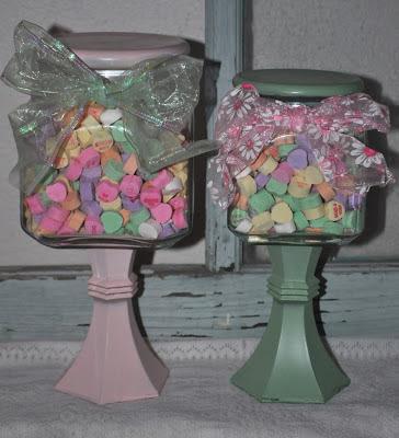 DIY Candy Jar with Valentine's Conversation Hearts