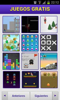 La aplicación Juegos Gratis para android