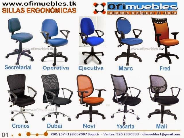 Sillas para oficina ofimuebles colombia for Sillas ergonomicas para oficina precio