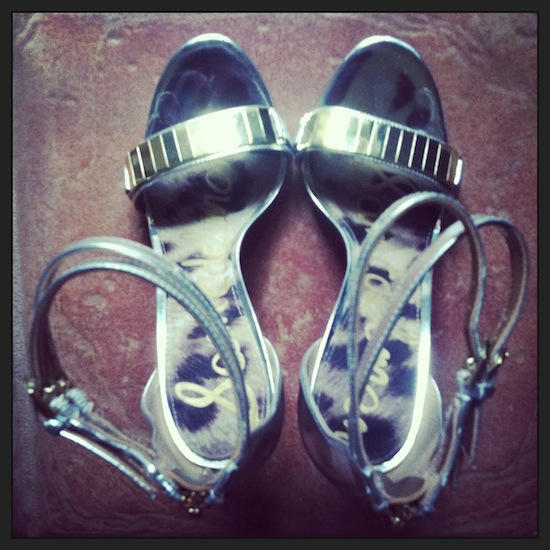 Sam Edelman Silver and Gold Allie Sandal
