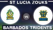 Watch CPL T20 St Lucia Zouks vs Barbados Tridents Live Streaming Online Sony Six HD Free.