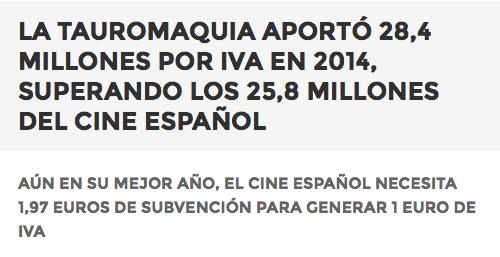 https://laeconomiadeltoro.wordpress.com/2014/12/10/la-tauromaquia-aporto-284-millones-por-iva-en-2014-superando-los-258-millones-del-cine-espanol/
