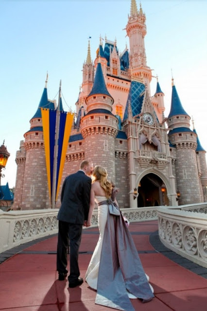 Disney Wedding Inspiration: Wendy and Greg's Magic Kingdom and Epcot Bridal Portraits