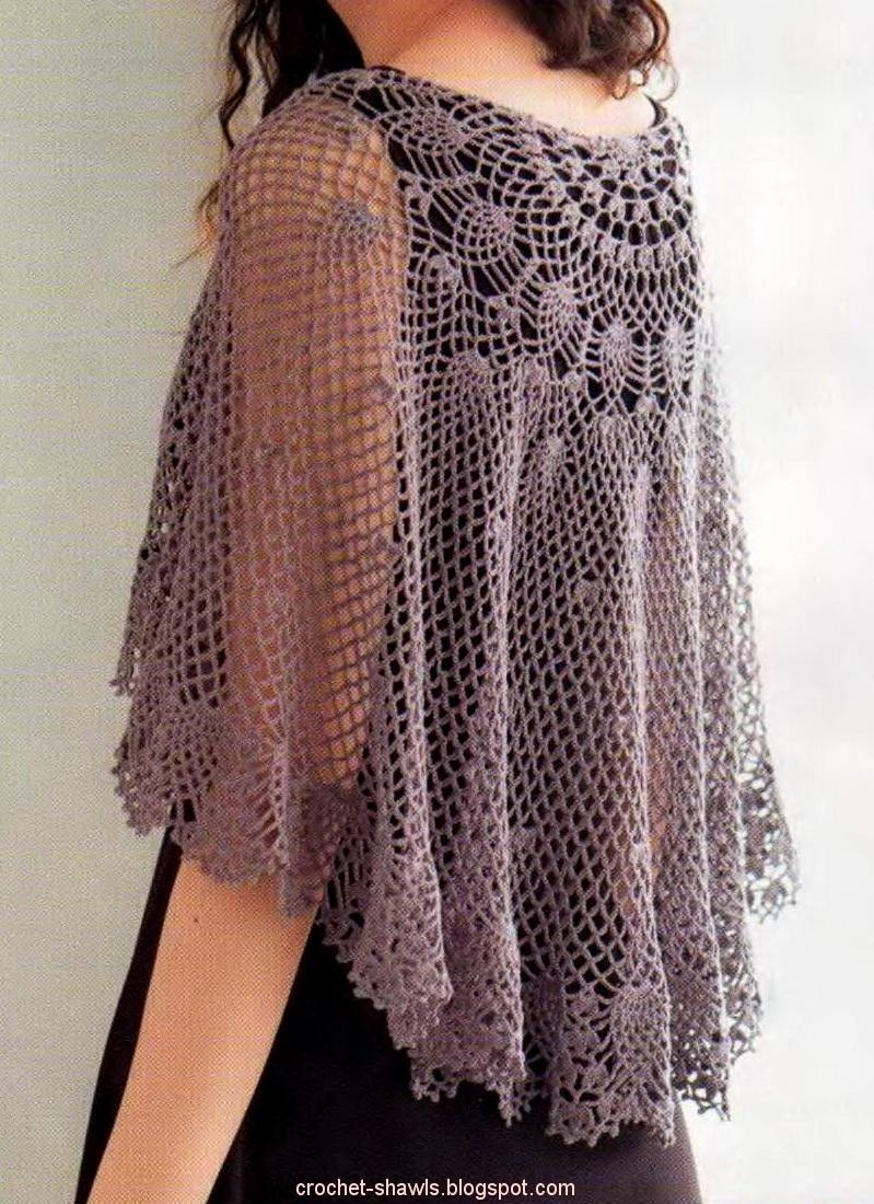 Crochet Lace Pattern : Crochet Shawls: Crochet Lace Cape Pattern Free