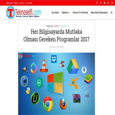 teknoselfie com - her bilgisayarda mutlaka olması gereken programlar 2017