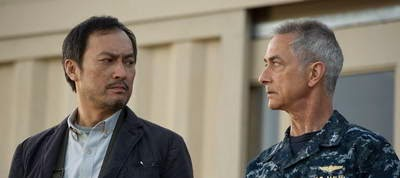 David Strathairn and Ken Watanabe in Godzilla 2014 review