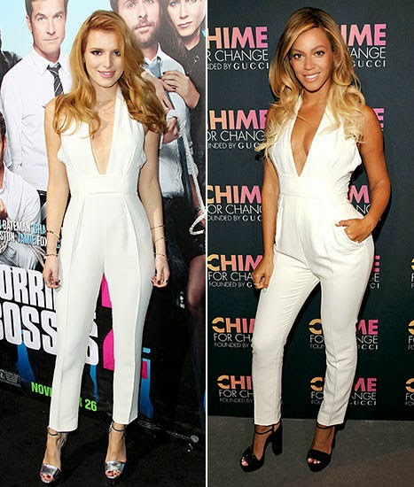 Who Rocked it Better? Bella Thorne vs. Beyoncé in a White Hot Jumpsuit