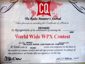 CQWPX  2008 (With Previous Call Sign-YD1HUH)