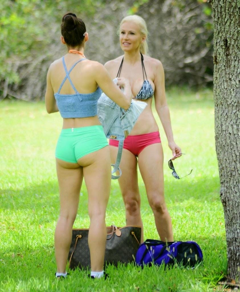 صور أنياس زانوتي وآنا براغا يمارسن الرياضة في ميامي