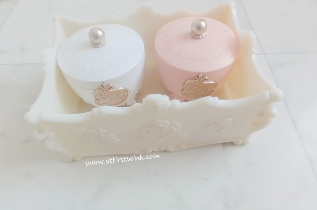 Etude House Etoinette Crystal Powder and Etude House Etoinette Heart Blusher - PK001 Pink Petal Kiss