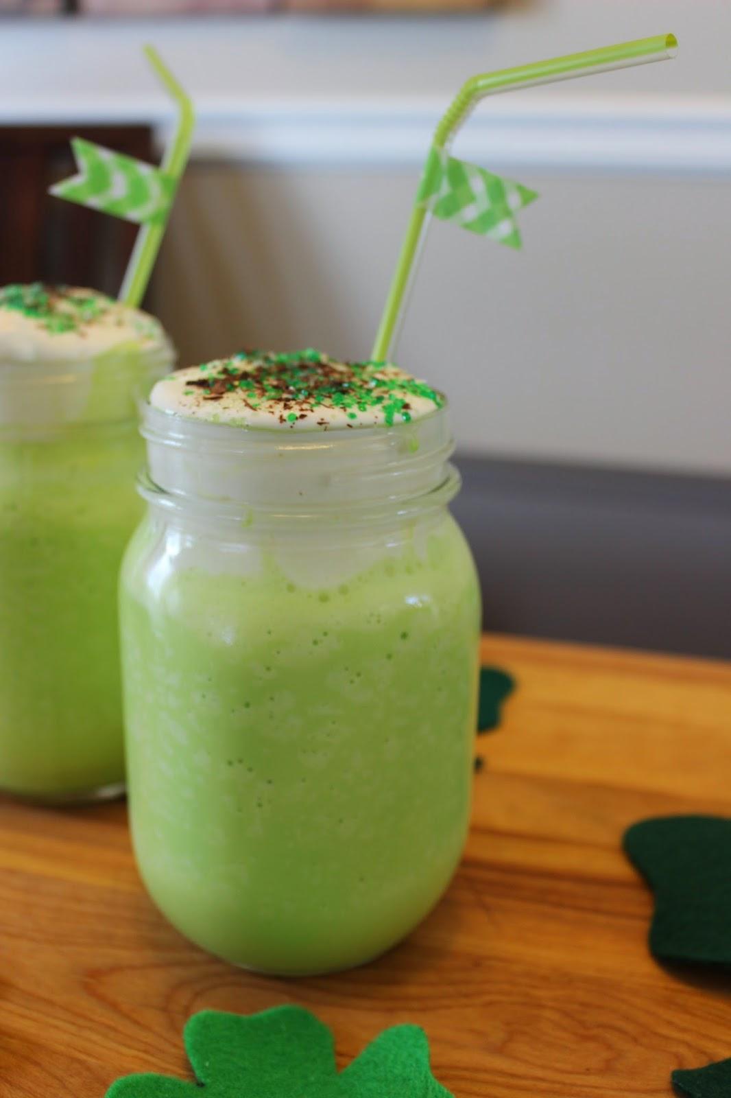 Mint Milkshakes for St. Patrick's Day