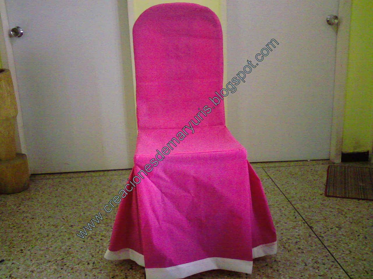 Creaciones de maryuris forros para sillas for Sillas para festejos