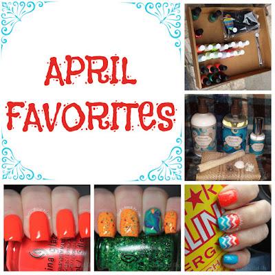 april favorites collage