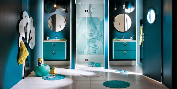 Blue bathroom design ideas 2014