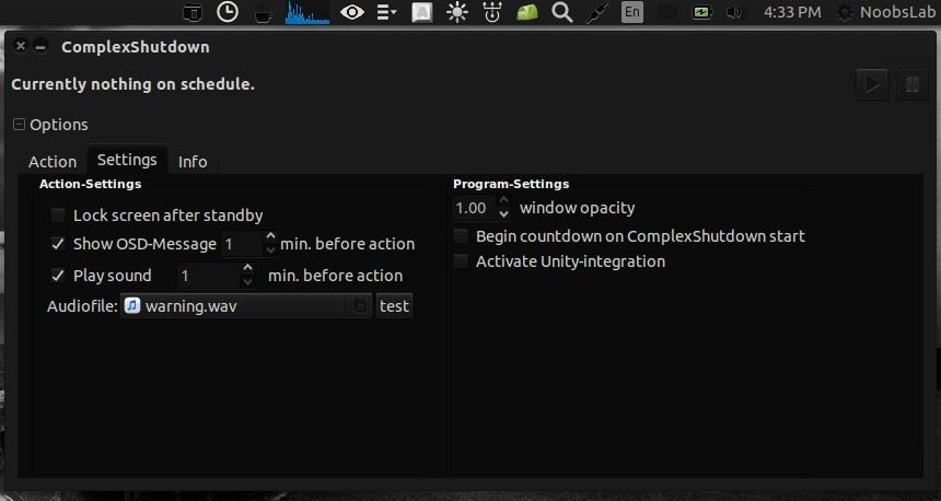 complexshutdown ubuntu