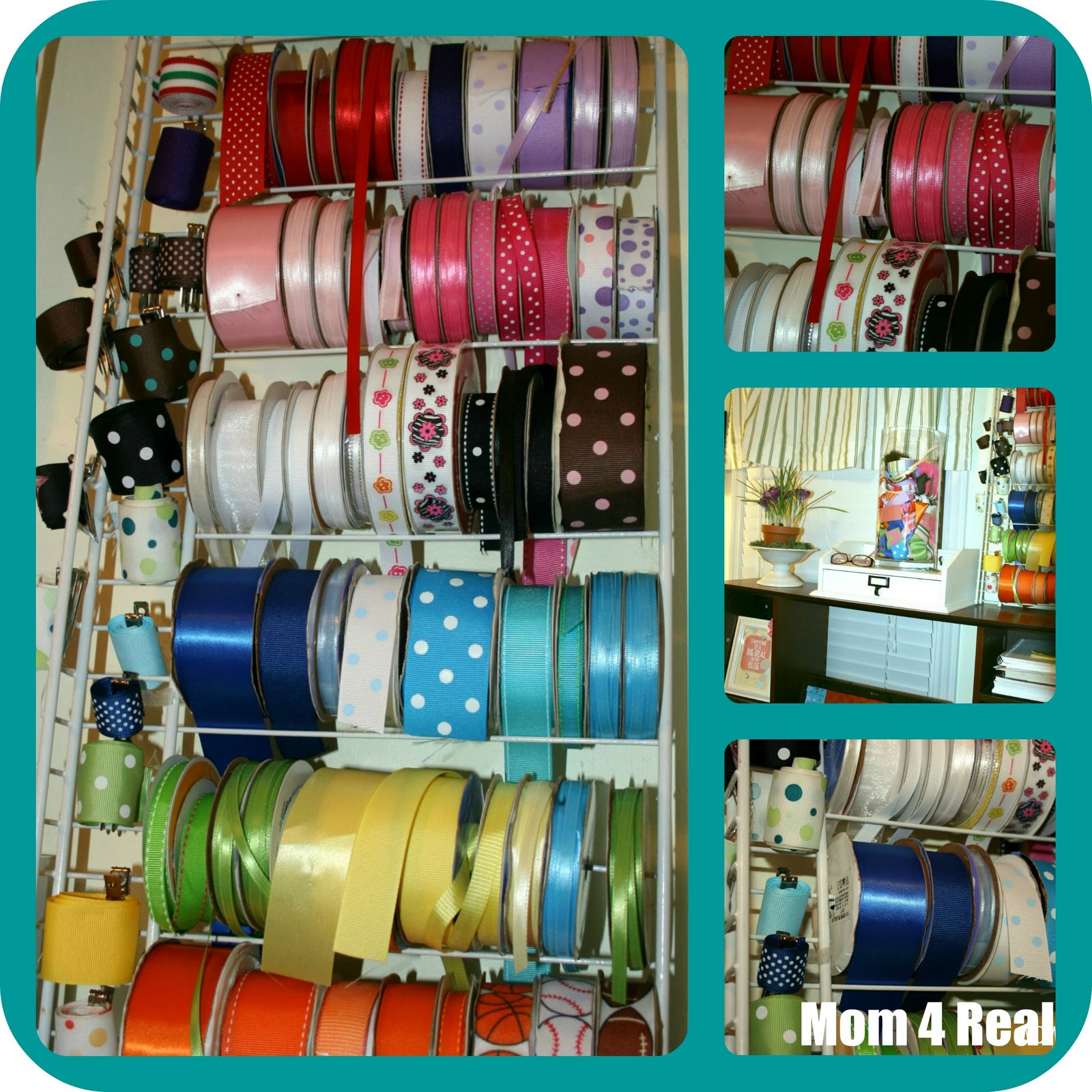 DIY Ribbon Storage - Mom 4 Real