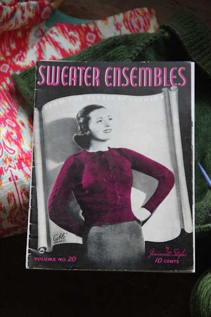 vintage knitting magazine 1940s