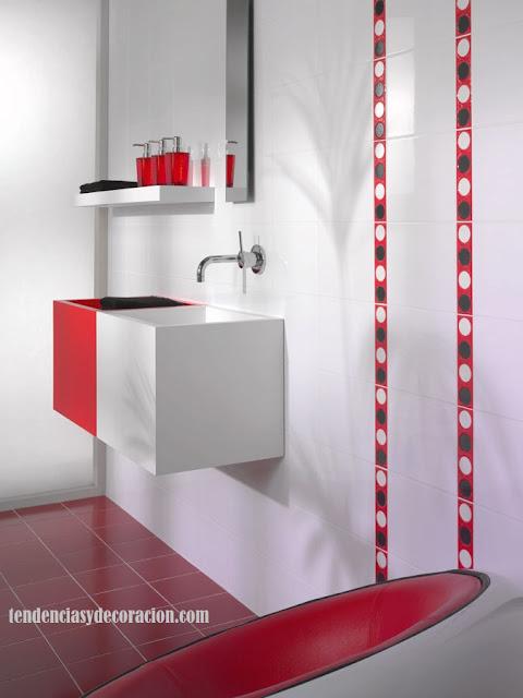 """Baño Blanco Con Rojo:10 comentarios en """" 20 formas de decorar baños infantiles"""