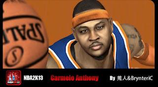NBA 2K13 Mods Carmelo Anthony Cyber Face Patch