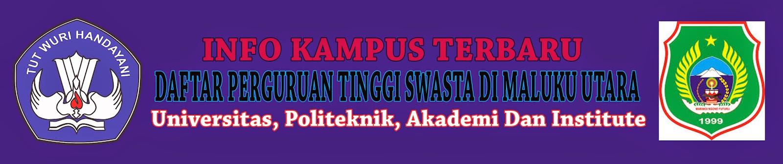Daftar Perguruan Tinggi Swasta Di Maluku Utara