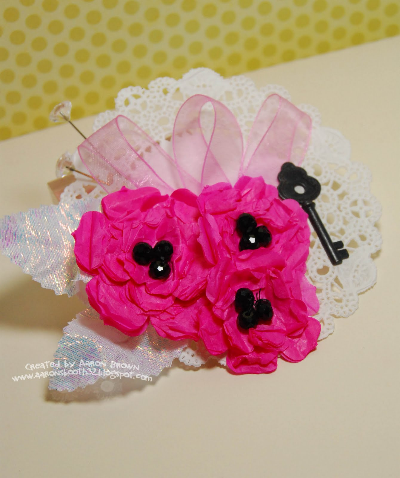 Booth 32 Tissue Paper Challengemothers Day Paper Corsage