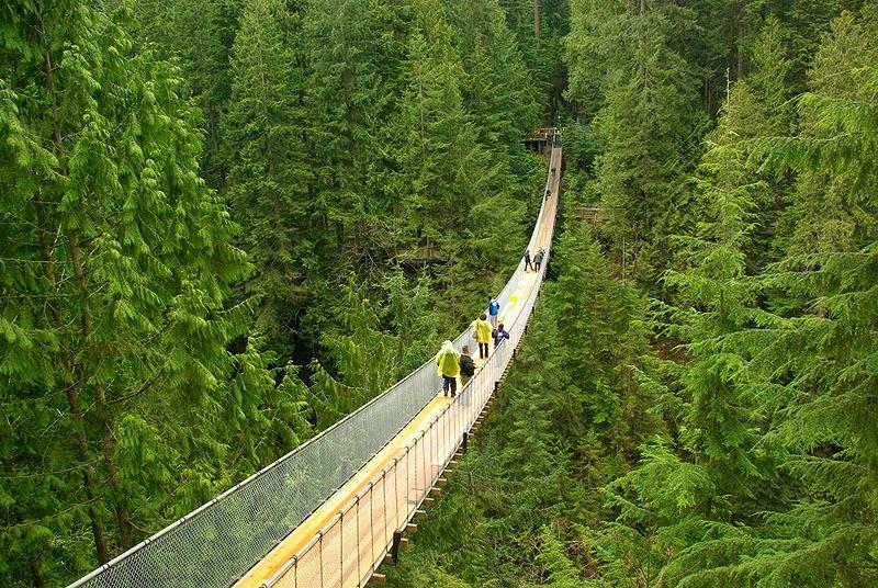 Capilano puente colgante Vancouver