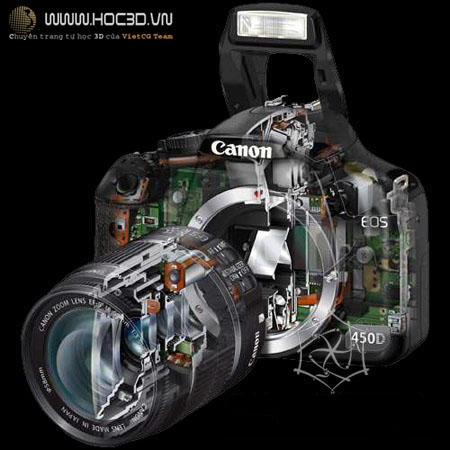 camera vray physical | hiệu ứng Depth of field trong 3dsmax | học 3d | vray physical camera