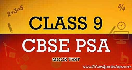 psa questionpaper class9, psa class9, cbse psa for class9