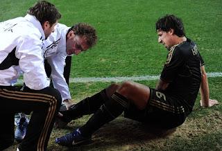 Sami Khedira sufrió un Esguince de tobillo