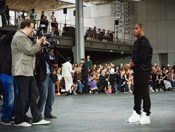 Victor Cruz - Givenchy show Paris Fashion Week Menswear Spring Summer 2015 PFW