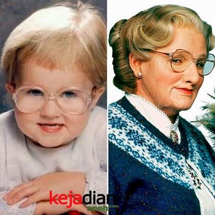 Bayi lucu mirip Mrs. Doubtfire