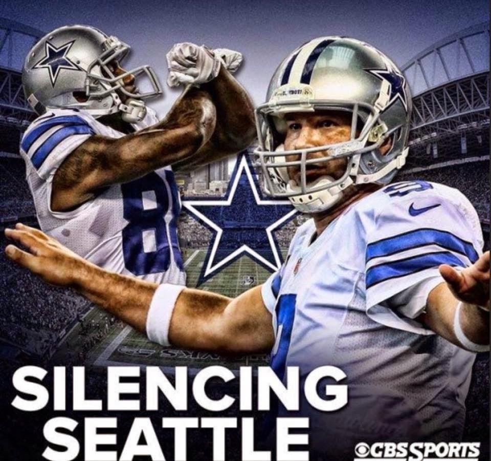 silencing seattle. #cowboys #tonyromo #seahawkshaters #seattlehaters #silencing
