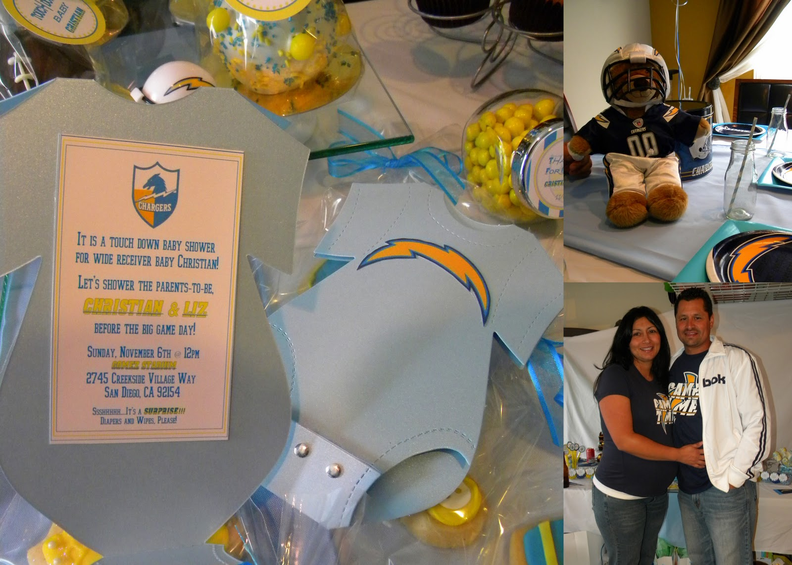 Baby Showers San Diego ~ Mkr creations san diego chargers baby shower