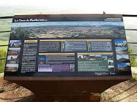 Plafó informatiu al Mirador de la Tossa