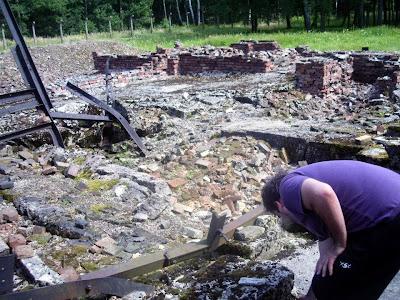 cámara de gas destruida en Auschwitz birkenau