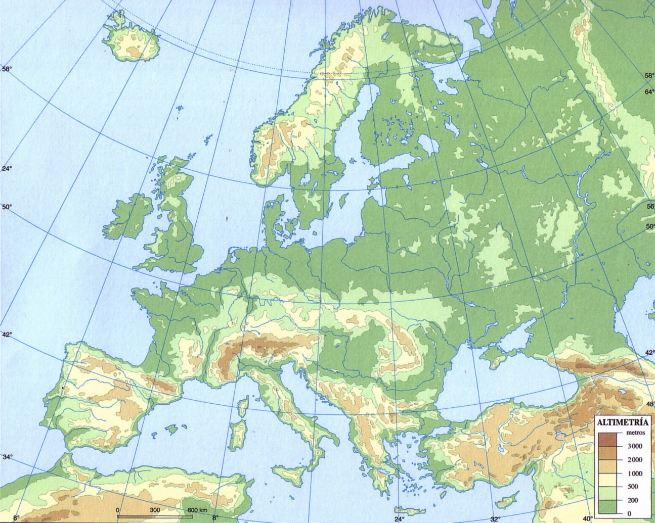 GEOGRAFA 3 ESO Mapas mudos para descargar